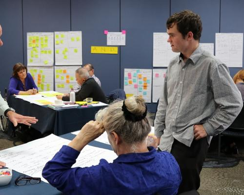 John and Shane discuss key design challenges at the fourth system transformation disability workshop.